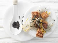 Salmon with Daikon Radish Slaw recipe