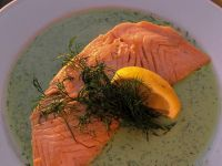 Salmon with Dill Sauce recipe