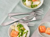 Salmon with Garden Peas recipe