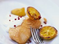 Salmon with Glazed Lemon recipe