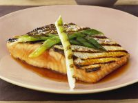 Salmon with Grilled Pak Choi recipe