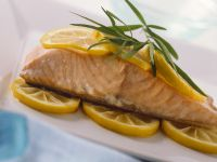 Salmon with Lemon Slices and Tarragon recipe
