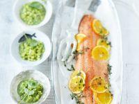 Salmon with Orange and Herb Potatoes recipe