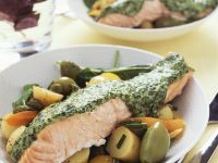 Salmon with Potato Salad