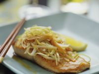 Salmon with Vegetables and Ginger recipe
