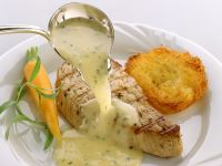 Salmon with White Wine Sauce recipe