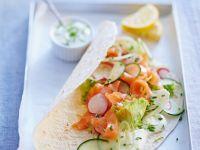 Salmon Wraps recipe