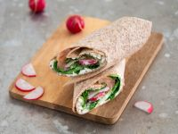 Salmon Wraps with Cottage Cheese recipe