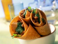 Salmon Wraps with Herb Sauce recipe