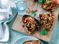 Salsa Toasts recipe
