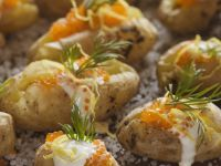 Salt-baked Caviar Potatoes recipe