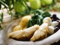 Salted Cod with Potatoes, Eggs, Spinach and Olives recipe