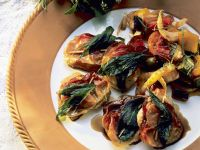 Saltimbocca with Mediterranean Vegetables recipe