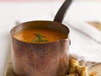 Saucepan of Pureed Tomato Soup recipe