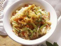 Sauerkraut and Bell Pepper Salad recipe
