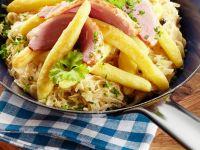 Sauerkraut and Potato Noodles recipe