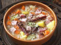 Sauerkraut Soup with Pork Ribs