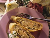 Sauerkraut Strudel with Smoked Salmon recipe