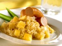 Sauerkraut with Pineapple and Turkey Sausage recipe