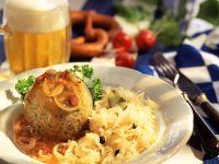 Sauerkraut with Pork Dumplings and Pancetta recipe