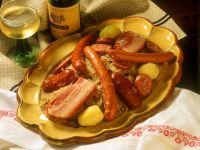 Sauerkraut with Sausage and Pork Belly recipe