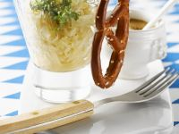 Sauerkraut with Sausages and Pretzel recipe