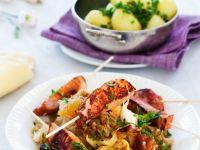 Sauerkraut with Smoked Pork Skewers recipe