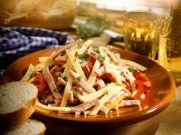 Sausage and Cheese Salad recipe