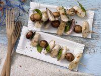 Sausage and Mushroom Skewers recipe