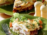 Sausage and Potato Gratin recipe