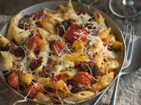 Sausage and Tomato Skillet Mac & Cheese recipe