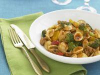 Sausage, Broccoli, and Red Pepper Orechiette recipe
