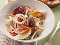 Sausage-Cheese Salad with Egg recipe