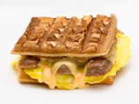 Sausage, Egg, and Cheese Waffle Sandwiches recipe