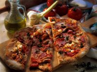 Sausage, Pepper and Cheese Pizza recipe