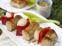 Sausage Skewer with Pepper and Onion recipe