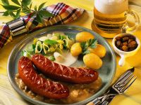 Sausages with Leeks recipe