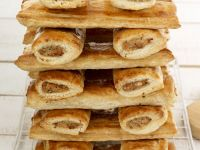 Sausages Wrapped in Puff Pastry (pigs in a Blanket) recipe