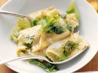 Sautéed Cabbage with Homemade Pasta recipe