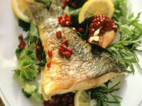 Sauteed Carp with Pomegranate recipe