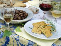 Sautéed Chestnuts with Chickpea Flatbread recipe