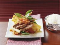 Sauteed Duck Breast with Pineapple recipe
