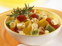 Sautéed Peppers with Feta Cheese recipe