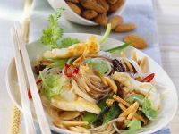 Sauteed Rice Noodles with Monkfish and Vegetables recipe