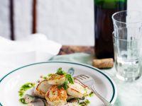Sauteéd Scallops with Hazelnuts recipe