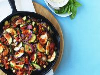 Sauteed Vegetables and Chickpeas recipe