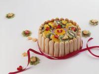 Savoiardi Sponge Fingers Cake with Fruit recipe