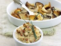 Savory Bread Puddings with Wild Mushrooms recipe