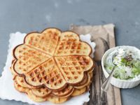Savory Carrot, Herb and Cheese Waffles recipe