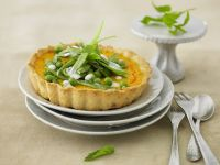 Savory Carrot Tartlets with Snow Pea Salad recipe